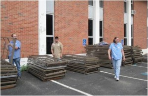 The University of Central Missouri provided hundreds of beds, cots, and sets of bedding from a planned furniture replacement.